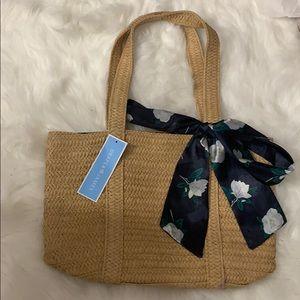 NWT Draper James straw purse
